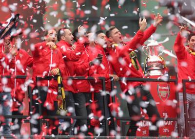 Arsenal FA Cup Parade