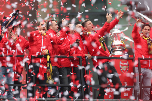 Confetti at Arsenal's FA Cup Victory Parade