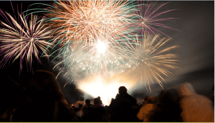 Firework Display For Bonfire Night