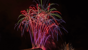 Firework Display To Celebrate Opening A New Building
