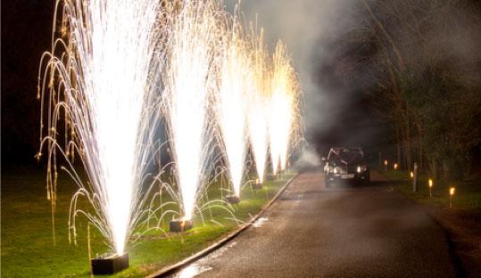 Wedding Pyrotechnics – Hertfordshire Hotel