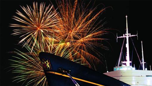 Royal Yacht Britannia Fireworks