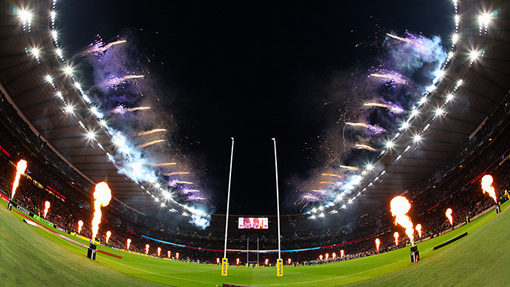 Harlequins Big Game - Pyrotechnic effects and flame effects