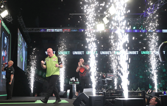pyrotechnic effects for world darts championships