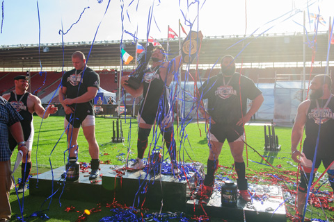 Streamer confetti for the Ultimate Strongman competition