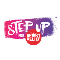step up for sport relief logo