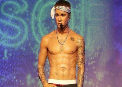 Justin Bieber at Madame Tussauds