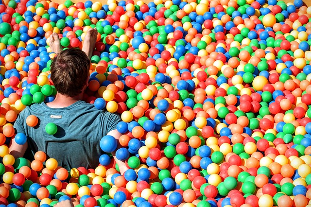 Ball pit at corporate Summer party