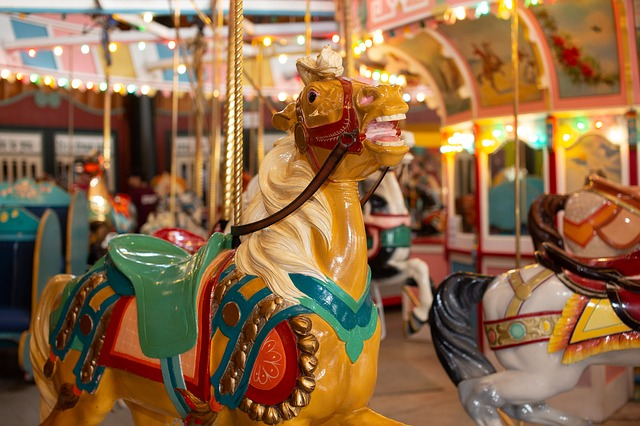 Merry-go round at corporate Summer party