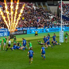 Entertainment Effects - Saracens vs Harlequins, Queen Elizabeth Stadium  23rd March 2019