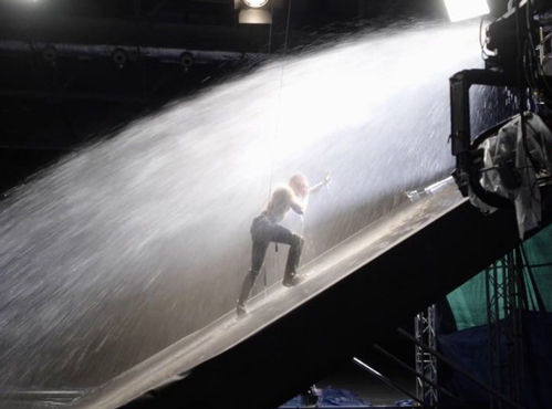Dermot Kennedy behind the scenes music video with rain effects