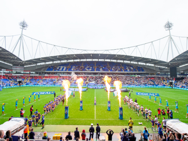 Rugby game uses branded flames