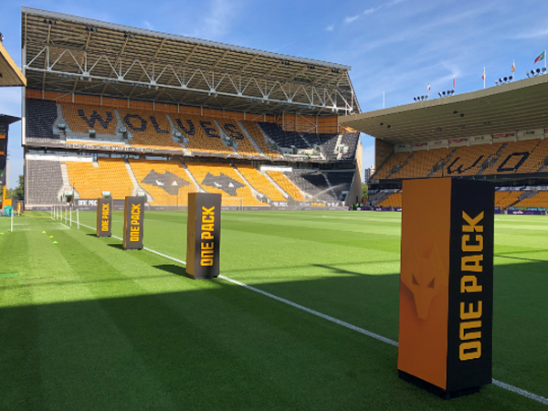 Wolves FC use brand flames