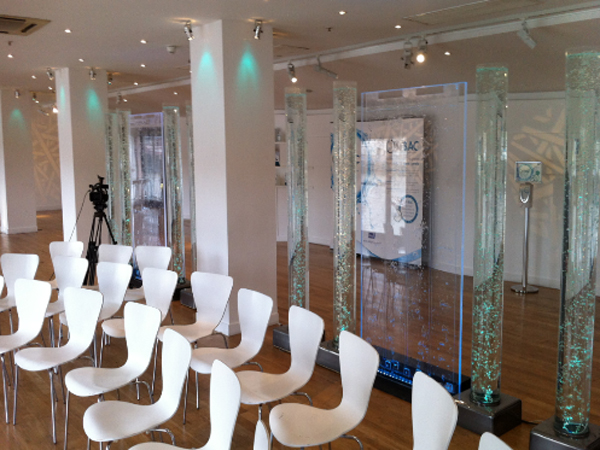 Oxo tower hosts deb event using bubble walls
