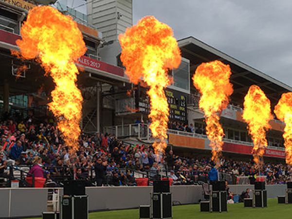 Flame Effects used before cricket game