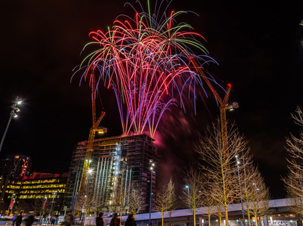 Fireworks display used for unite student union
