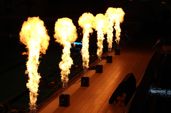 Flame effects for European Championships