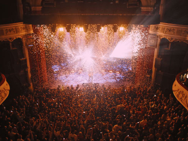 Confetti used for Lewis Capaldi gig