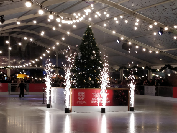 Sparkulars used for Winchester Cathedral iced rink for Christmas