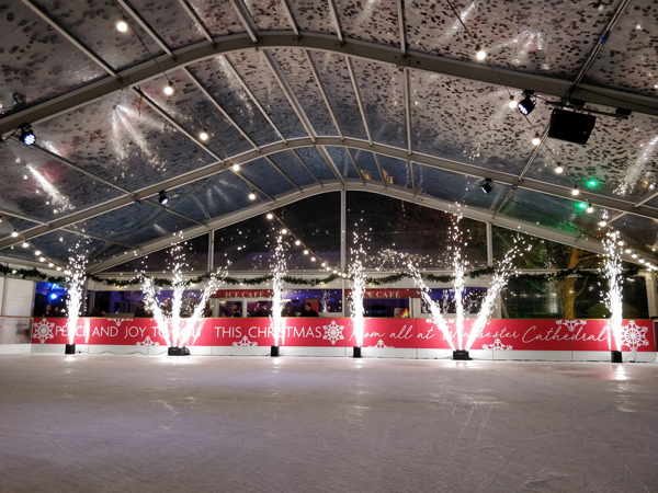 Christmas ice rink using Sparkulars